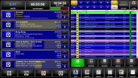 ENCO's Digital Audio Delivery, DAD, playout and automation system interface