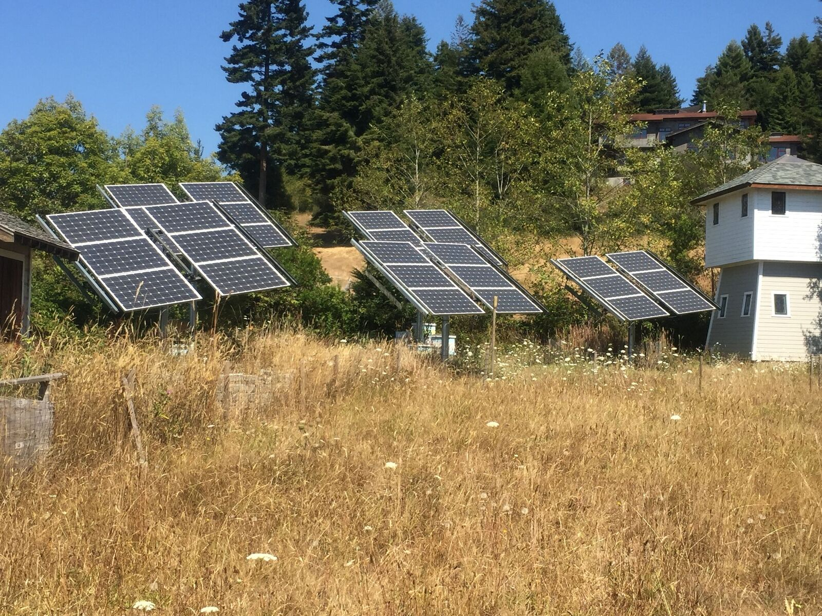 Our Solar Array behind the Schoolhouse